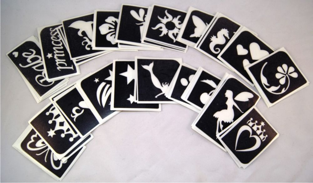MIXED PACK OF 5 STENCILS - choose your own designs
